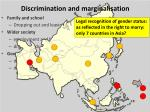 discrimination and marginalisation22