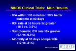 ninds clinical trials main results