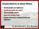 characteristics of saved people