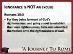 ignorance is not an excuse