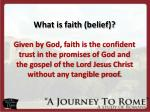 what is faith belief