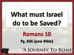 what must israel do to be saved