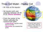 three cell model hadley cell