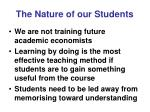 the nature of our students