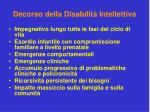 decorso della disabilit intellettiva