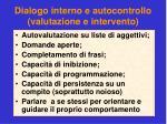 dialogo interno e autocontrollo valutazione e intervento