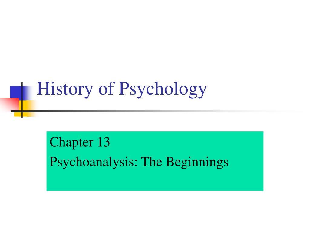 history of psychology l.