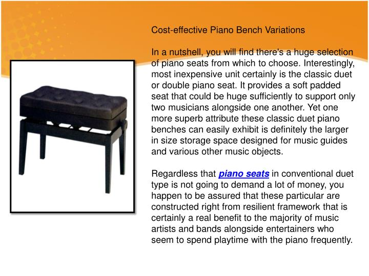 Cost-effective Piano Bench Variations