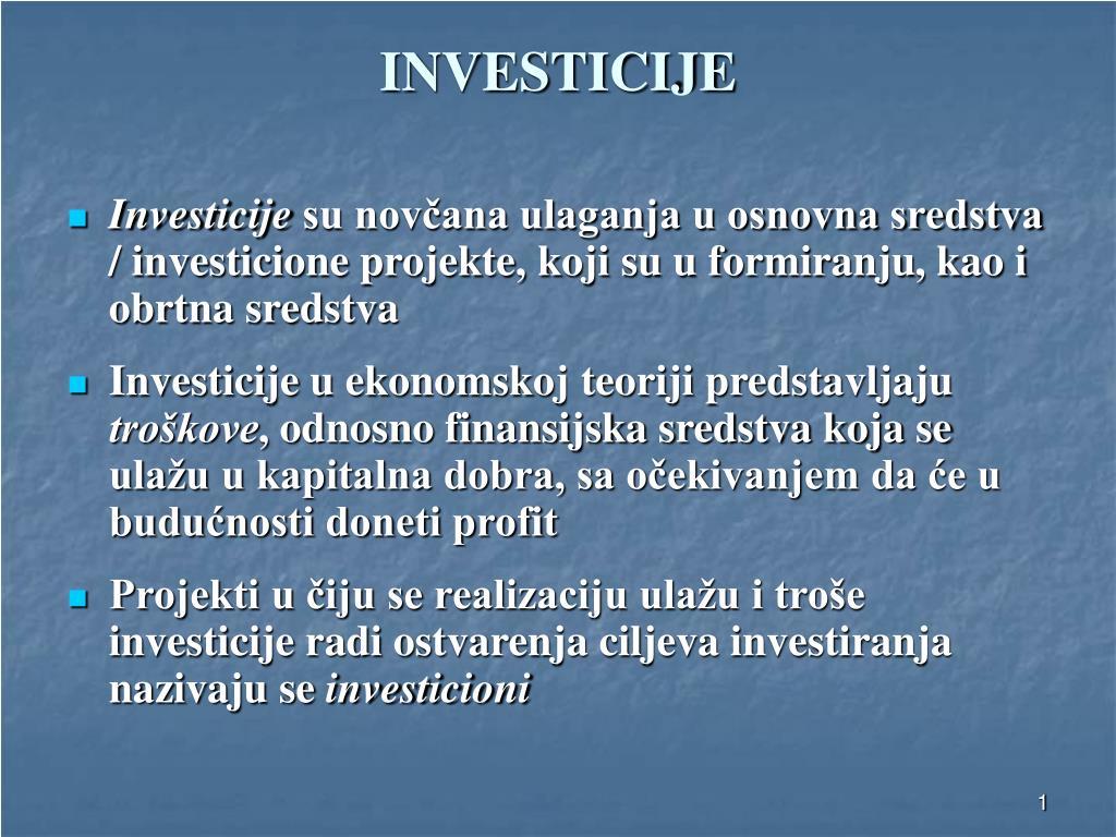 investicije l.