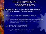 developmental constraints