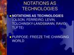notations as technologies