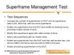 superframe management test