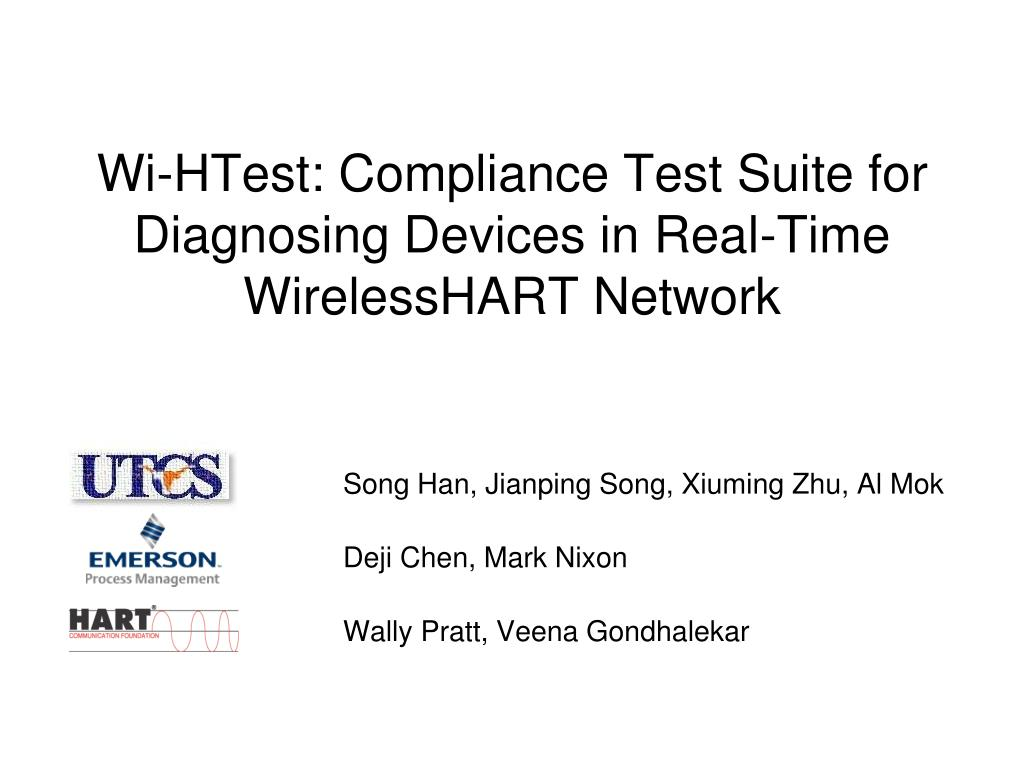 wi htest compliance test suite for diagnosing devices in real time wirelesshart network l.