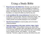 using a study bible