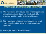 information and training for employees10