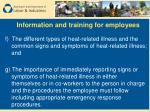 information and training for employees11