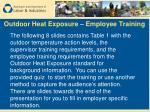 outdoor heat exposure employee training