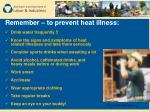 remember to prevent heat illness