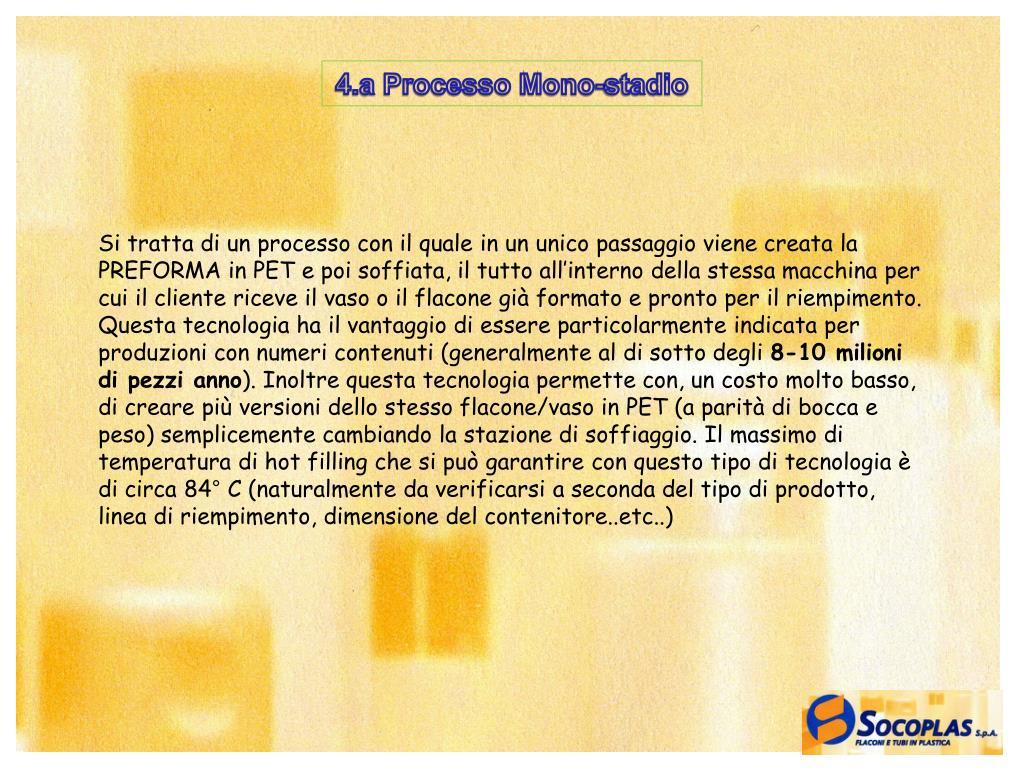 4.a Processo Mono-stadio