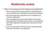biodiversity context