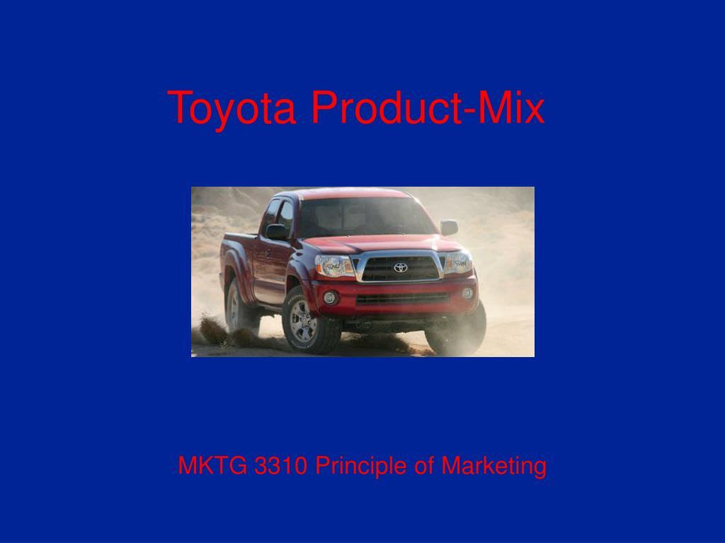 toyota product mix l.