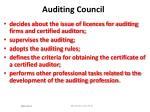 auditing council