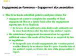 engagement performance engagement documentation