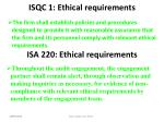 isqc 1 ethical requirements