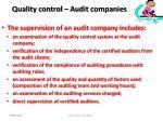 quality control audit companies99