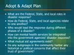 adopt adapt plan