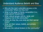 understand audience beliefs and bias30