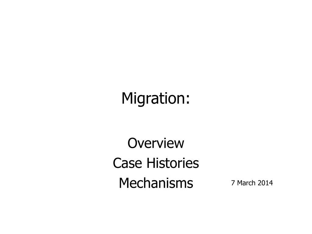 migration l.