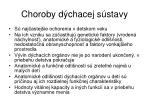 choroby d chacej s stavy