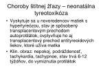 choroby t tnej azy neonat lna tyreotoxik za