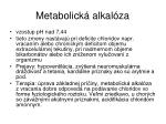 metabolick alkal za