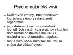 psychomotorick v vin