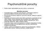 psychonutri n poruchy