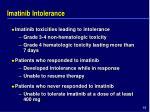 imatinib intolerance