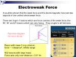 electroweak force
