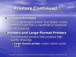printers continued18