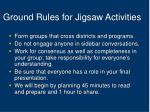 ground rules for jigsaw activities