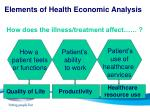 elements of health economic analysis