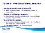 types of health economic analysis