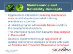 maintenance and reliability concepts