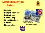 limited service budget