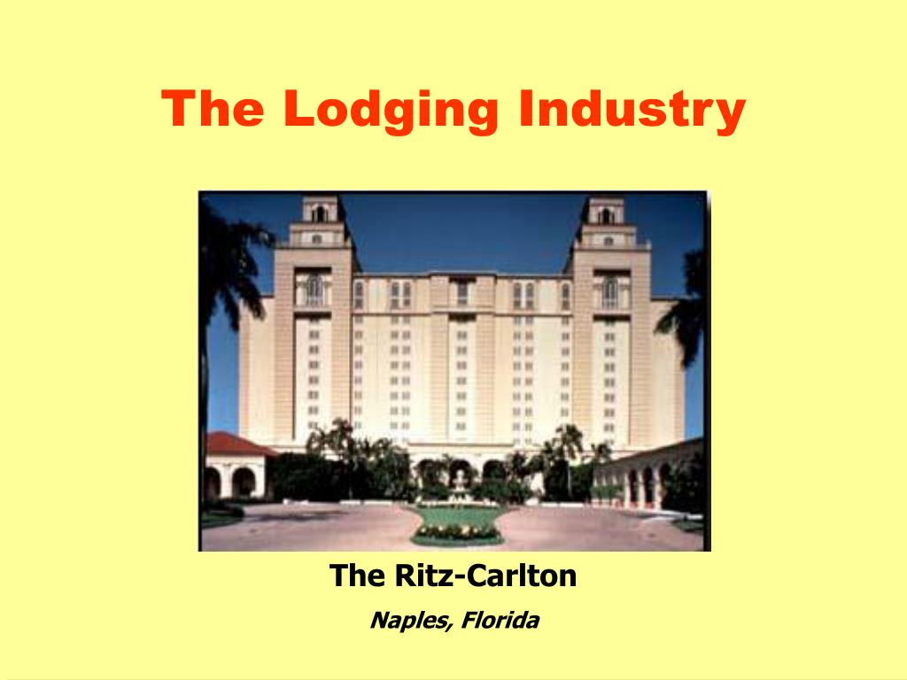 the lodging industry l.