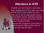 attendance at jchs