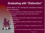 graduating with distinction