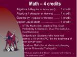 math 4 credits