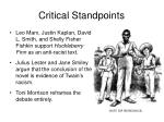 critical standpoints